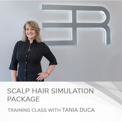 Scalp hair simulation course